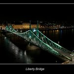 Liberty Bridge at Night.