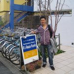 Bicyle for rent from hostel