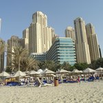Dubai Hilton from the beach