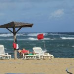 A red flag day just means winds and choppy waves.