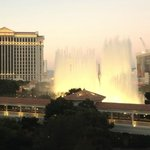 Bellagio Fountain Show Taken From Room 604 at the Jockey Club