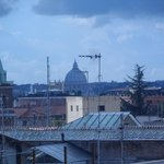 view of the Vatican from the rooftop garden
