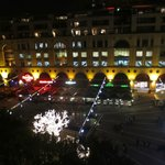 a night view from the room vrenda to Mandela Square