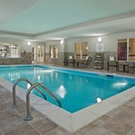 Indoor heated swimming pool, with shower next to pool