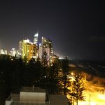 Gold Coast Night sky liine from balcony