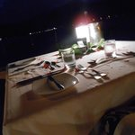 Beachy dinner table - sofitel private island