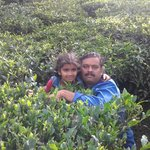 me n my daughter in munnar tea garden