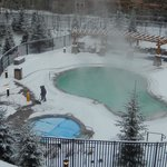 year round pool and hot tub
