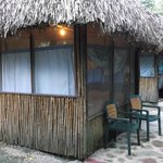 Grass thatched roof cabana