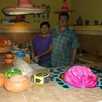 Rosalinda & Jan in the kitchen...Great partners,  She cooks, he eats.. treated us like family