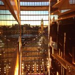 Reflections of Big Ben; the amazing views from the elevators, towering lobby, glazing oriented t