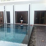 the beautiful private swimming pool
