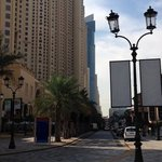 JBR walk area..hotel outside area for walking