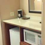 Small Nook with Microwave and Fridge