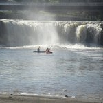 Kayaking by falls