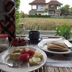 breakfast at private terrace