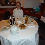 Room service - bring in a whole table!!!