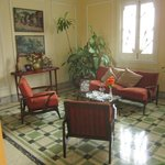 one of the living rooms- amazing 100 years old house!-casa particular maria elena VEDADO
