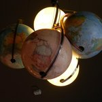 The Globes-lamp,The Bunk Bar at this hostel