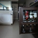 Mini bar in the room