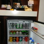 The in room mini bar...