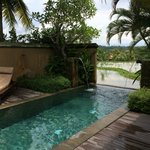 Our private pool overlooking the rice paddies