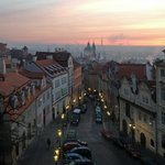 Sunrise over Prague from Golden Star Hotel