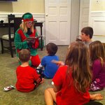 Elf reading the kids a bedtime story!
