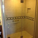 Walk-in shower instead of a tub