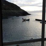 Rush hour in Portloe.