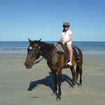 Horse riding on the beach !