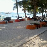Bean bags at Ocean Vida facing the waters, lovely!