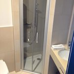 Smallish shower corner in bathroom