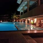 Poolside in the night