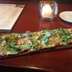 Garlic pesto flatbread