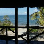 View of the Indian Ocean from the front porch of our Banda