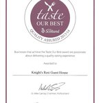 VisitScotland award Taste Our Best‏