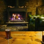 Log Fire at the White Horse Inn