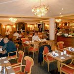 This is the breakfast restaurant, and while it is large and busy but friendly and efficient.