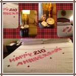 Our Anniversary surprise! Thank you from room SPG 4136:)