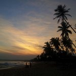 Sunset Tangalle from ganesh garden cabanas beach