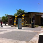 Front entrance to the Mandurah visitors centre