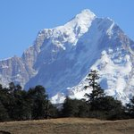 Nanda Devi peak view from my room