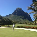 Le Morne Brabant from the golf course practise area