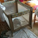 The Cot they provided for my 8 months old princess
