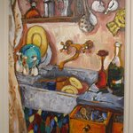 A painting my wife Pen did of the 'kitchen' part of that same room