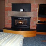 Great fireplace in the room