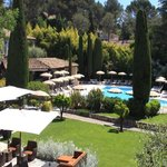 Garden, swimming pool and cypresses in Mougins.