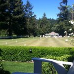View of the croquet lawn from our deck