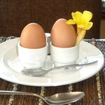 Boiled eggs to order, lovely breakfast